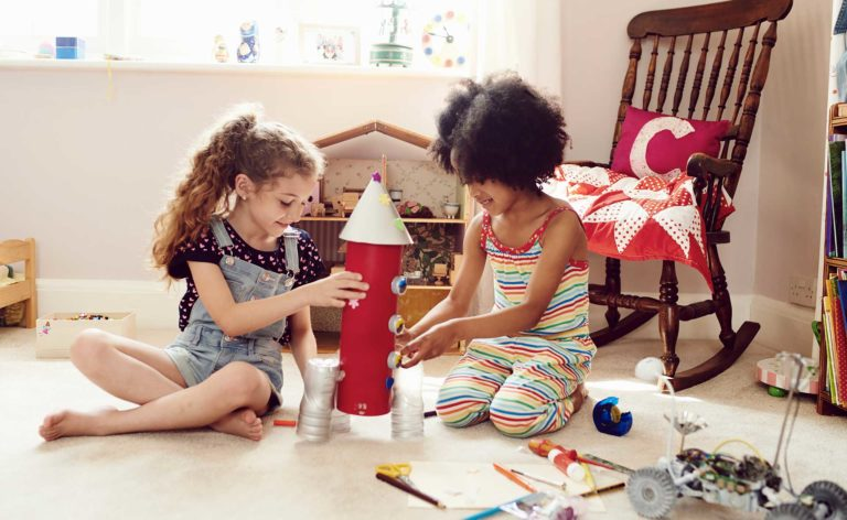 Generic image – kids playing with crafts